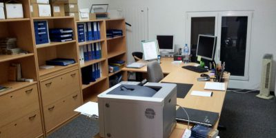 Business cleaning office space
